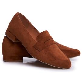Women's Suede Loafers Sergio Leone MK734 Camel Nebbi brown