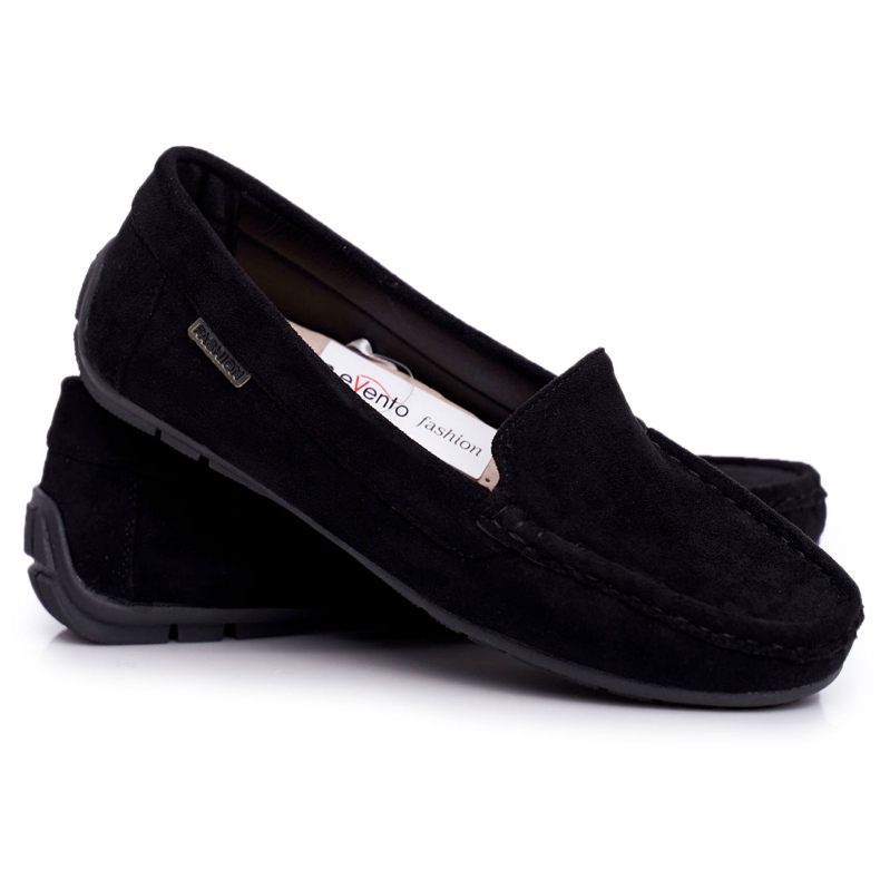 EVE Morreno Women's Black Suede Loafers