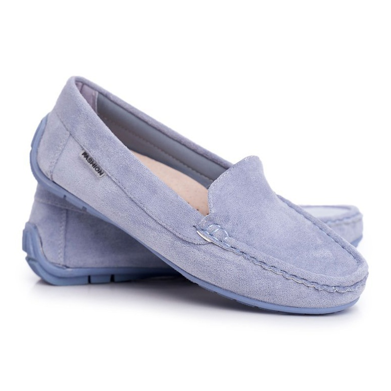 EVE Morreno Women's Loafers Blue Suede