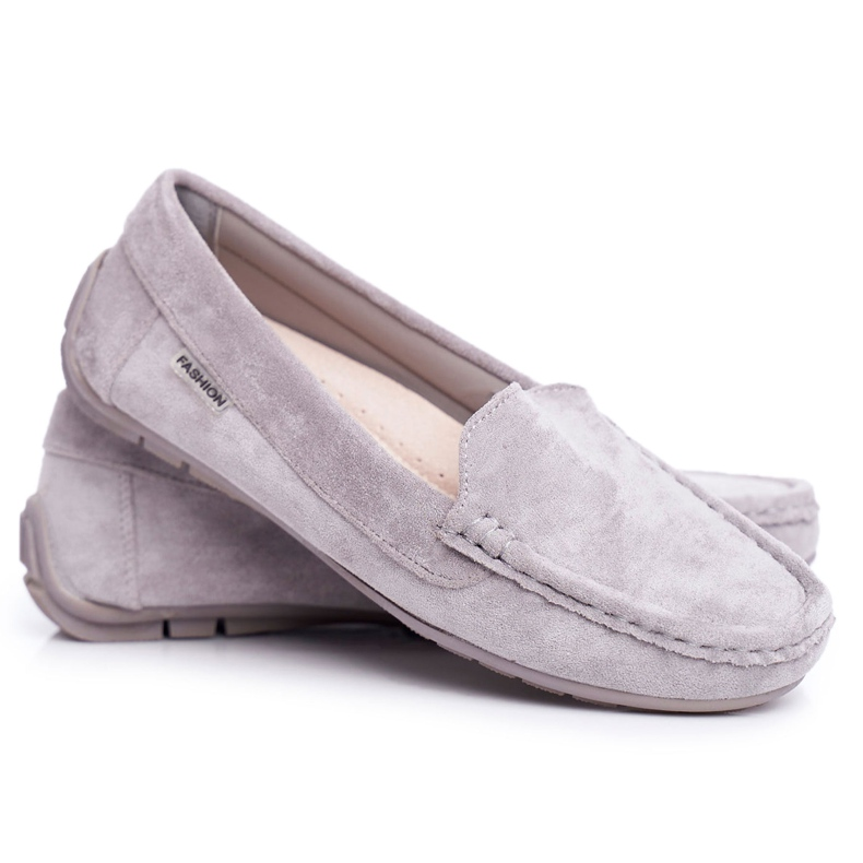 EVE Morreno Women's Loafers Gray Suede grey