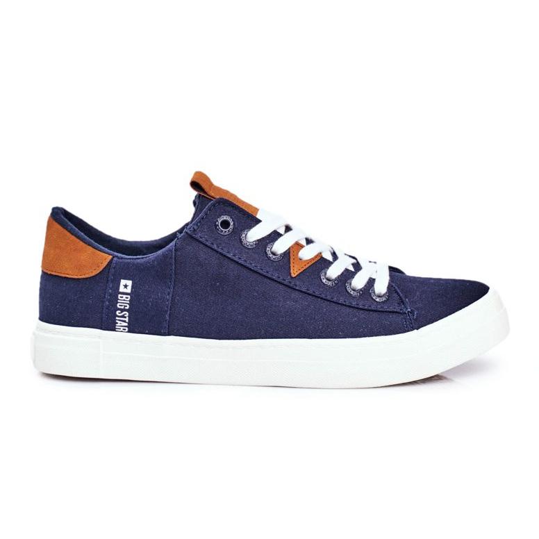 Men's Big Star Sneakers Navy Blue FF174313