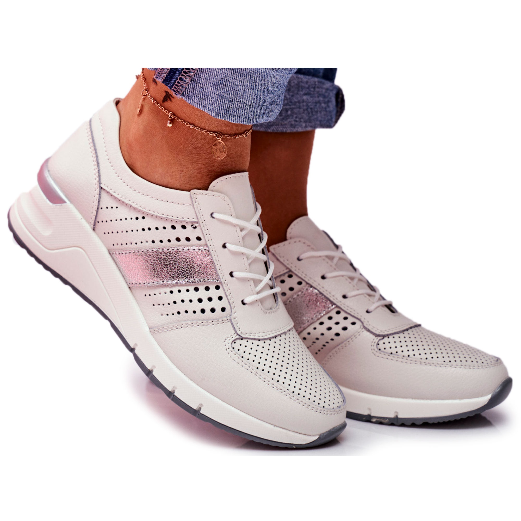 EVE Sport Women's Leather Shoes White