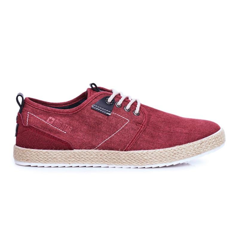 Big Star Espadrilles Red Men's Sneakers FF174151