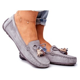 EVE Women's Loafers Suede 20PB35-2003 Gray Donna Mia grey