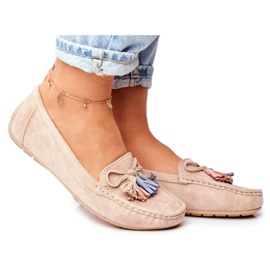 EVE Women's Loafers Suede 20PB35-2003 Beige Donna Mia