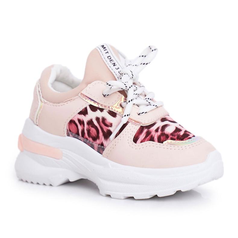 FRROCK Pink Leopard Penny Children's Sport Shoes