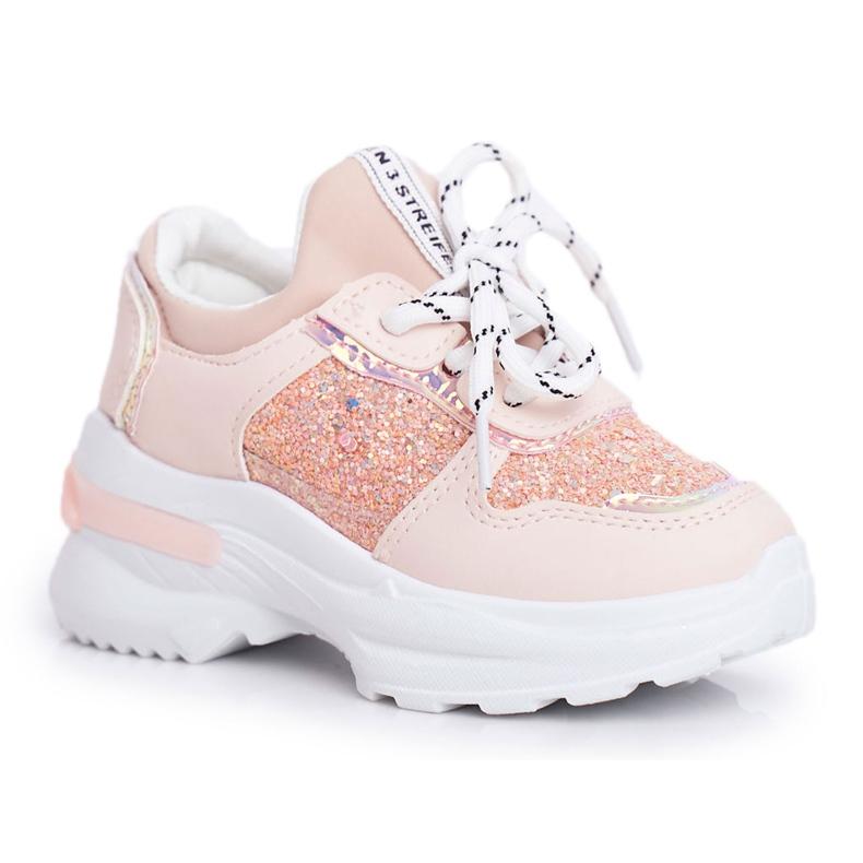 FRROCK Matilda Children's Pink Sports Shoes with Glitter