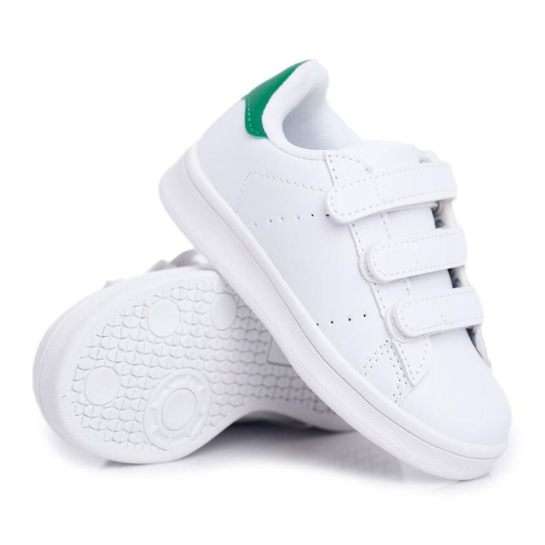 FRROCK Youth Sport Footwear With Velcro White Fifi green