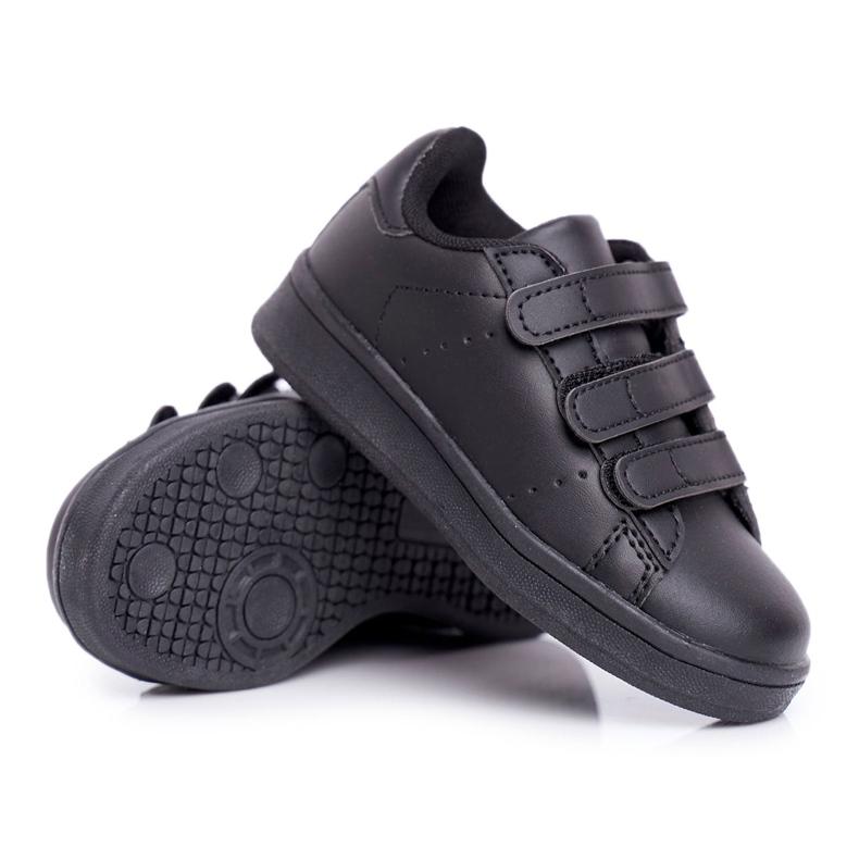 FRROCK Youth Sports Footwear With Velcro Black Fifi
