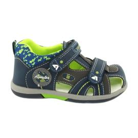 American Club boys sandals DR09 / 20 navy blue grey green
