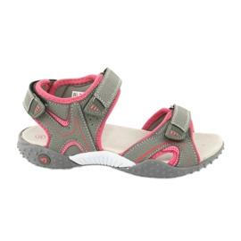 American Club RL26 / 20 gray / peach sandals