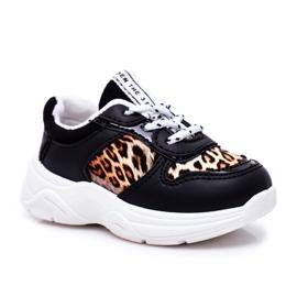 FRROCK Black Penny Leopard Print Children's Sport Shoes white