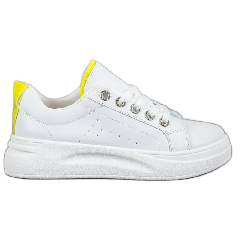SHELOVET Fashionable Sneakers On The Platform white