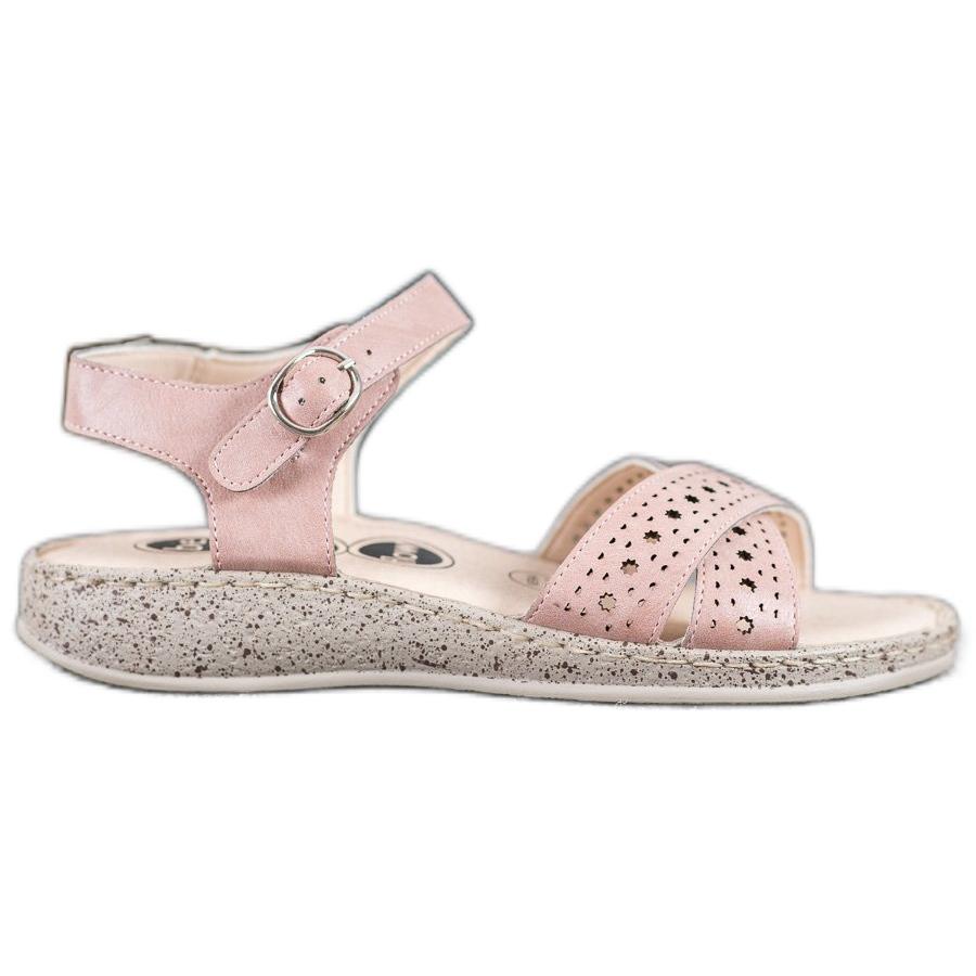 light pink platform sandals