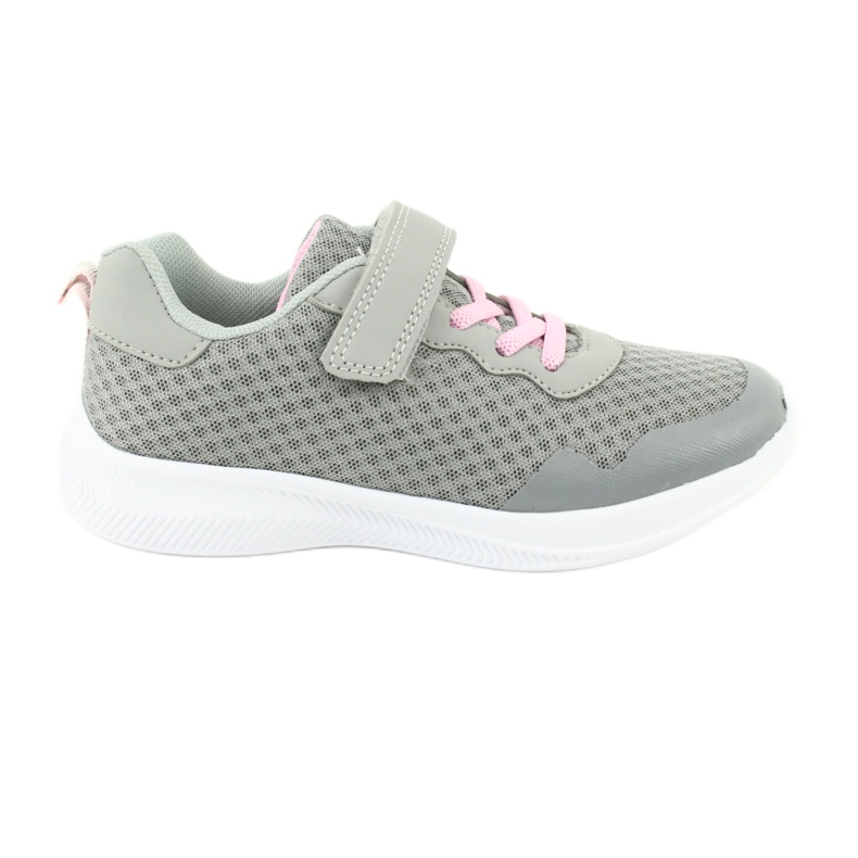 Evento Velcro sports shoes 20DZ55-2312 pink grey
