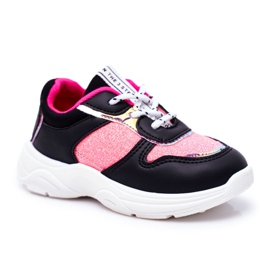 FRROCK Black Matylda Children's Sport Shoes with Glitter multicolored