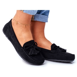 EVE Women's Loafers Suede 20PB35-2003 Black Donna Mia