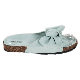 SHELOVET Suede Flip-flops With Bow green