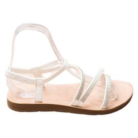 Sea Elves Elegant Slip-on Sandals white