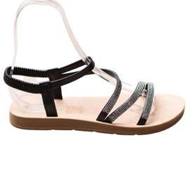 Sea Elves Elegant Slip-on Sandals black