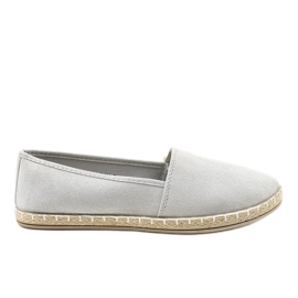 Gray Slip-on Espadrilles D1K-6 grey