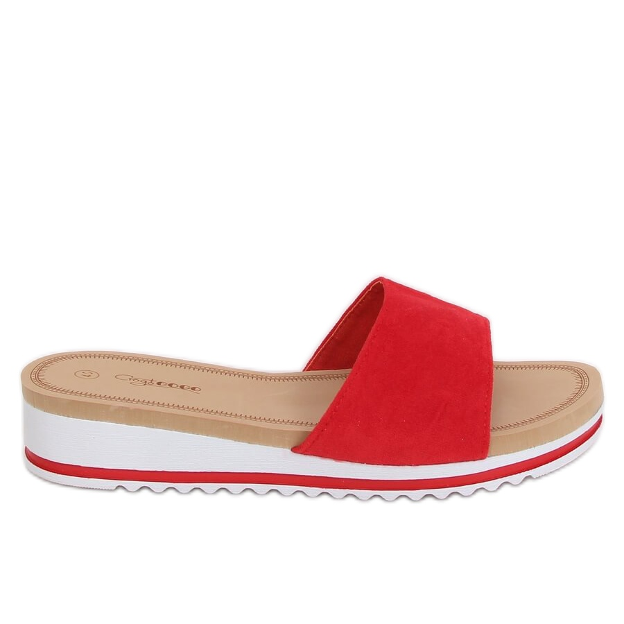 Red Women's slippers G-5036 Red