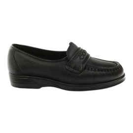 Loafers' heels for sensitive feet black Solo 015