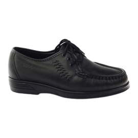 Moccasins for sensitive feet Solo 0015 black