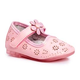 Apawwa Children's ballerinas on Velcro Flower Pink Flored
