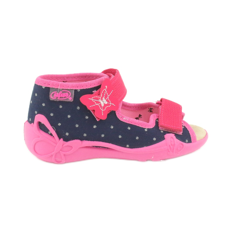 Befado yellow children's footwear 342P015 navy pink multicolored