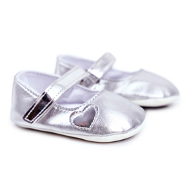 Apawwa Children's Sneakers with Velcro Baptism Silver Bellawa grey