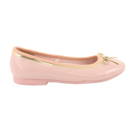 American Club Lacquered american ballerinas 14297 pink yellow