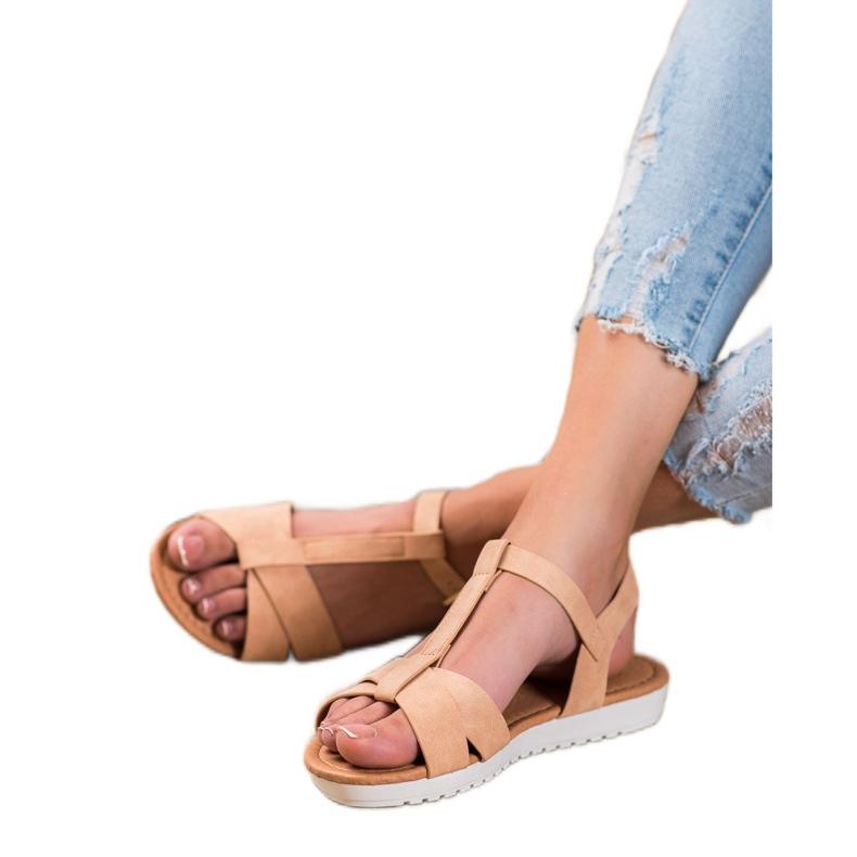 SHELOVET Beige Textile Sandals