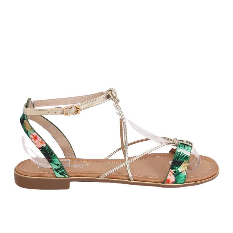 Women's green sandals JH125P Green