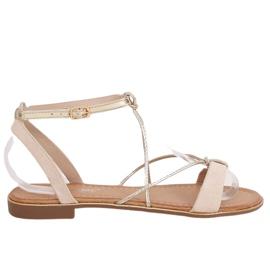 Beige women's sandals JH125P Beige