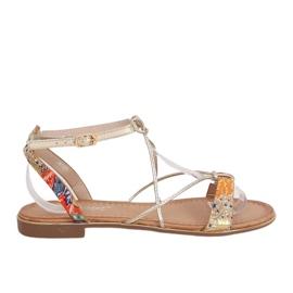 Orange women's sandals JH125P Orange multicolored