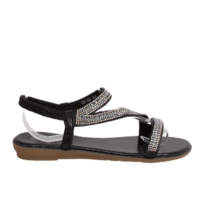 Sandals asymmetrical black KM-33 Black