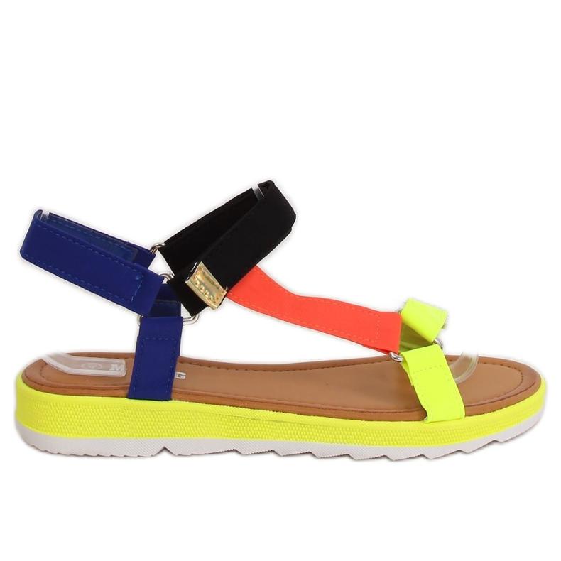 Women's sandals multicolor WS9027 Color multicolored