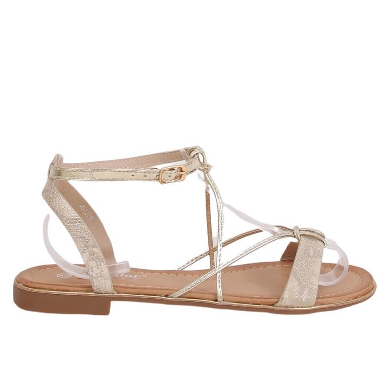Gold women's sandals JH123P Gold golden