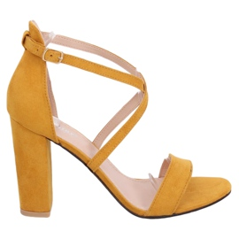 GG-88P Yellow honey sandals on the post