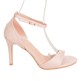 SHELOVET Classic Suede Heels brown