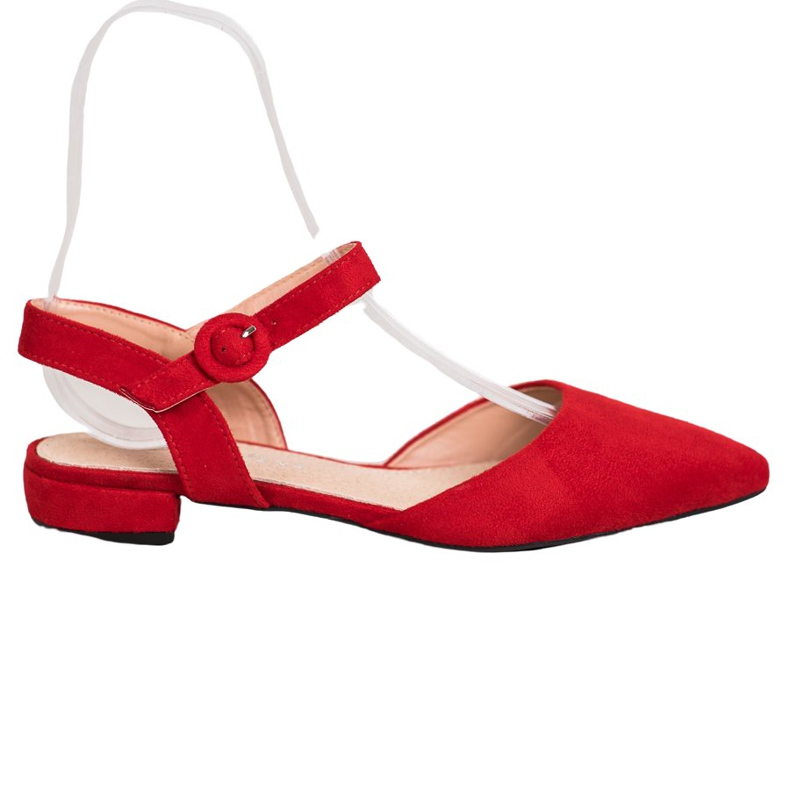 Goodin Red Pumps With An Open Heel
