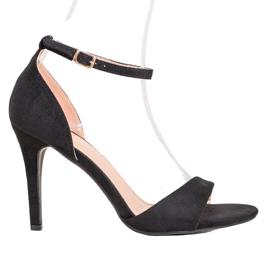 SHELOVET Classic Suede Heels black