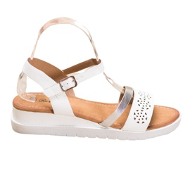 Renda Wedge Sandals With Eco Leather white