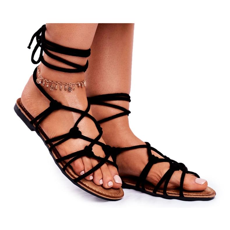 SEA Black Negros Women's Tied Sandals