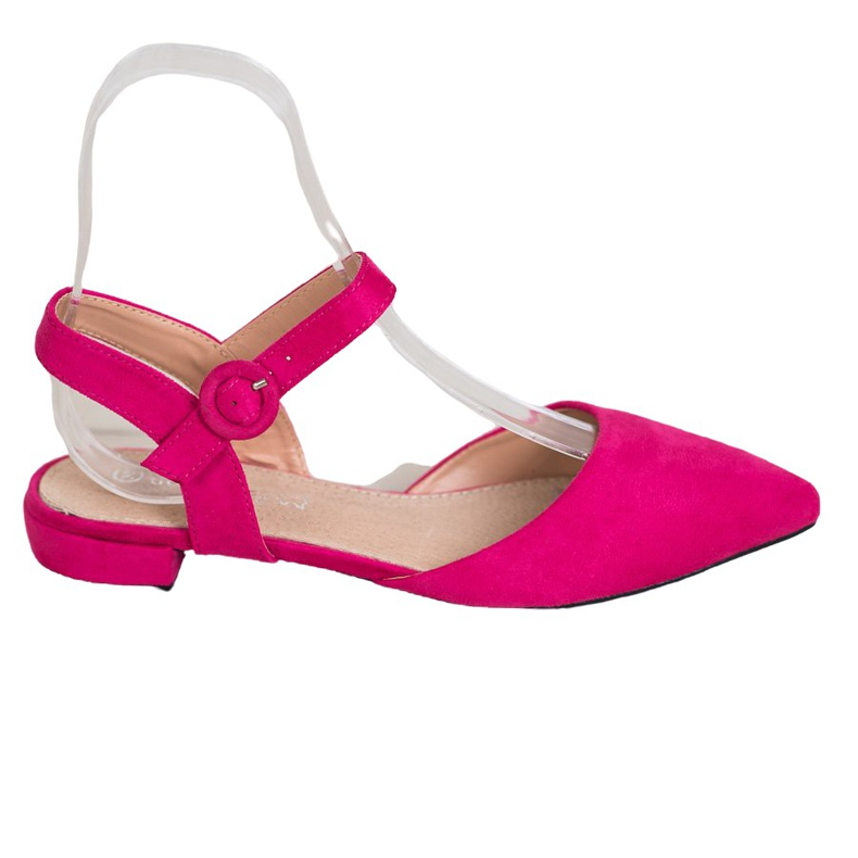 Goodin Pink Pumps With An Open Heel