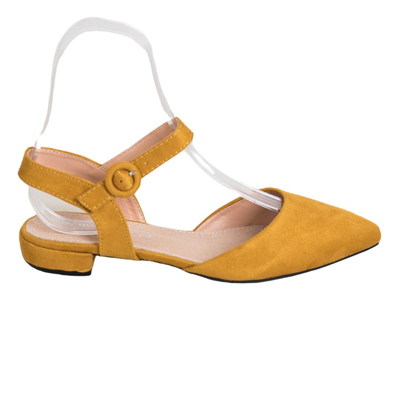 Goodin Mustard Pumps With An Open Heel yellow