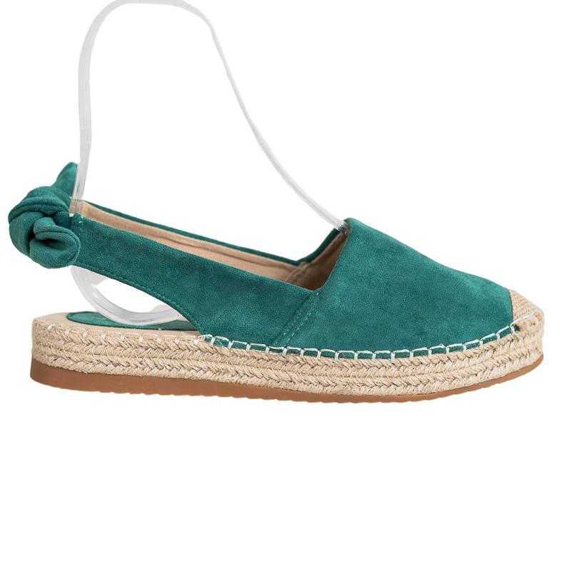 Nio Nio Espadrilles With An Open Heel green