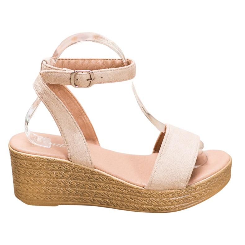 Renda Light Sandals On Wedge brown