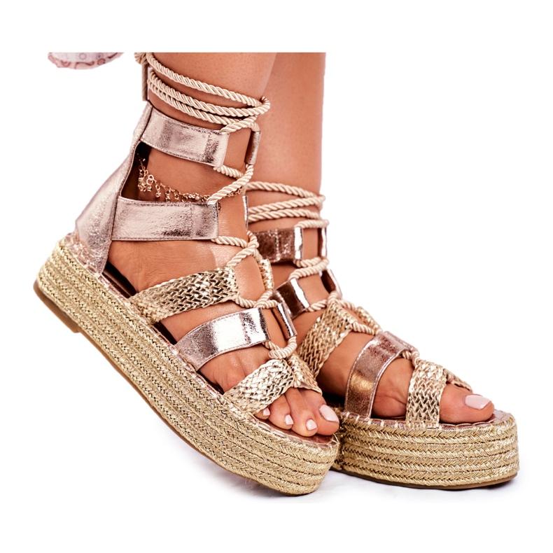 SEA Espadrilles Gold Eromica Women's Sandals On The Platform golden